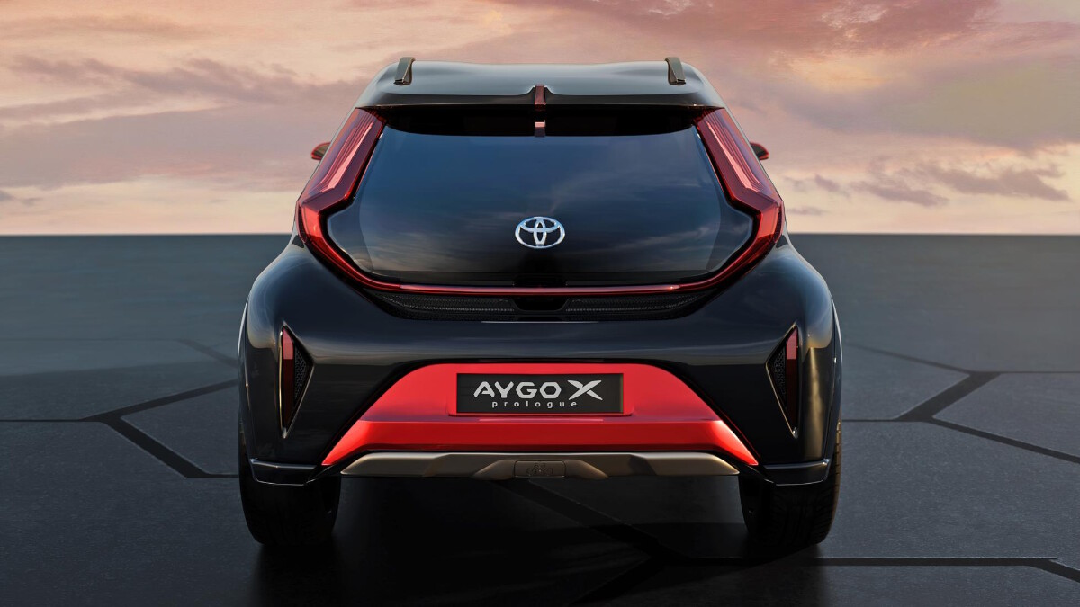 The Toyota Aygo X Rear View