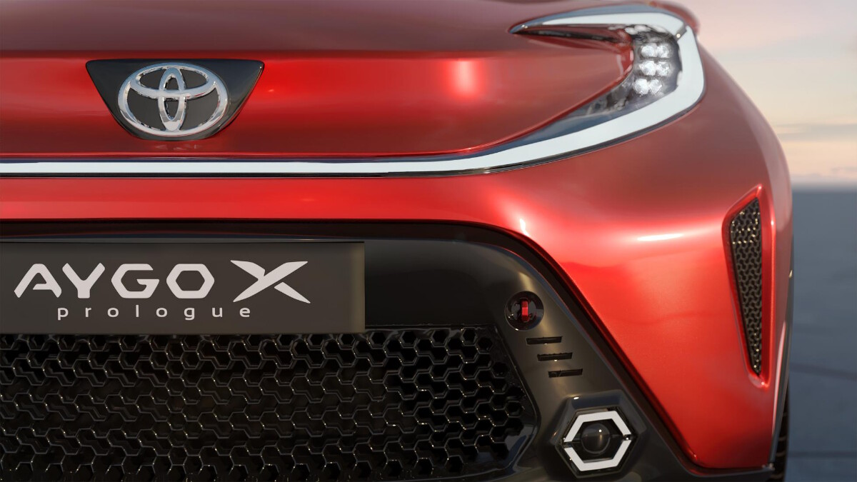 The Toyota Aygo X Front Closeup