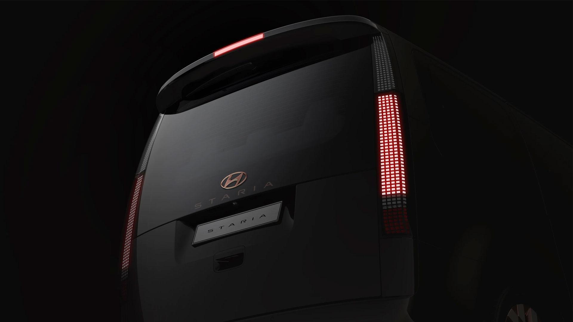 The Hyundai Staria rear