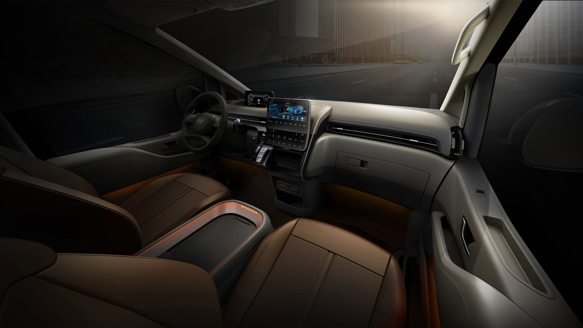 The Hyundai Staria interior