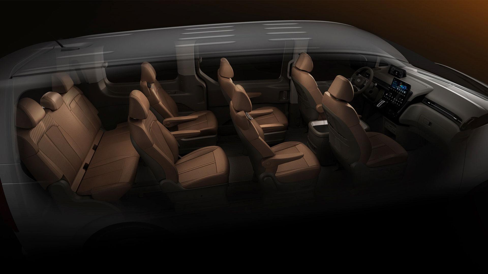 The Hyundai Staria passenger seats