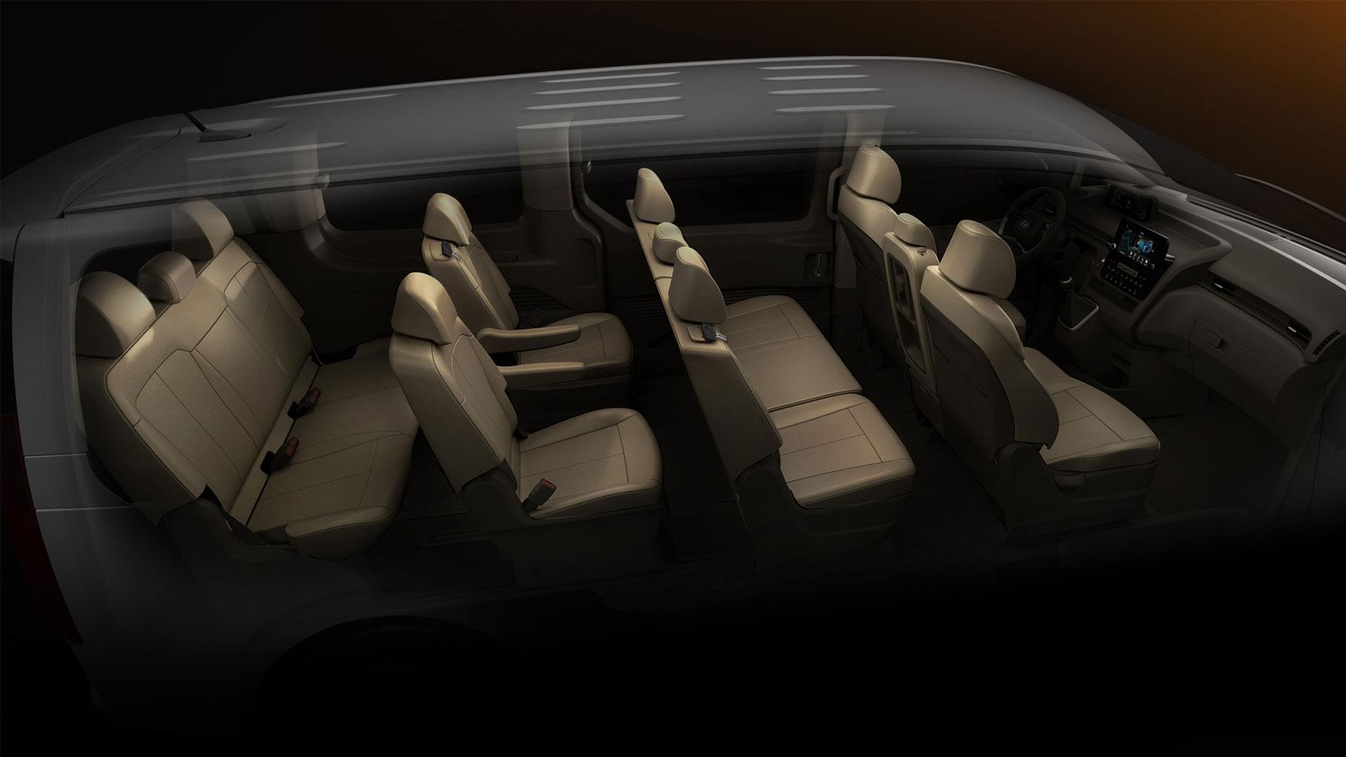 The Hyundai Staria default passenger setting