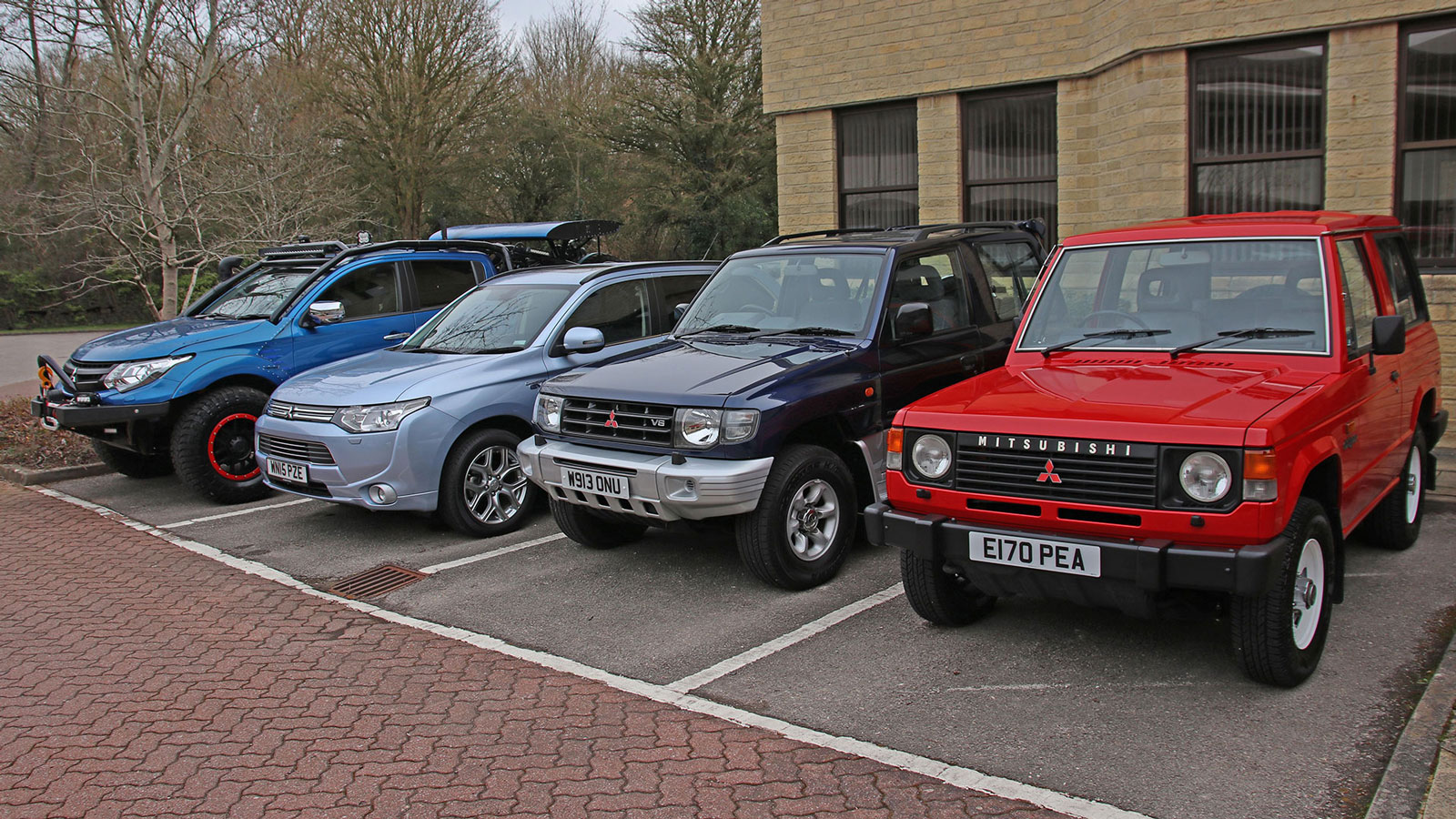 iconic 4x4 Mitsubishis in the Jeep and Mk1 and Mk2 Shoguns