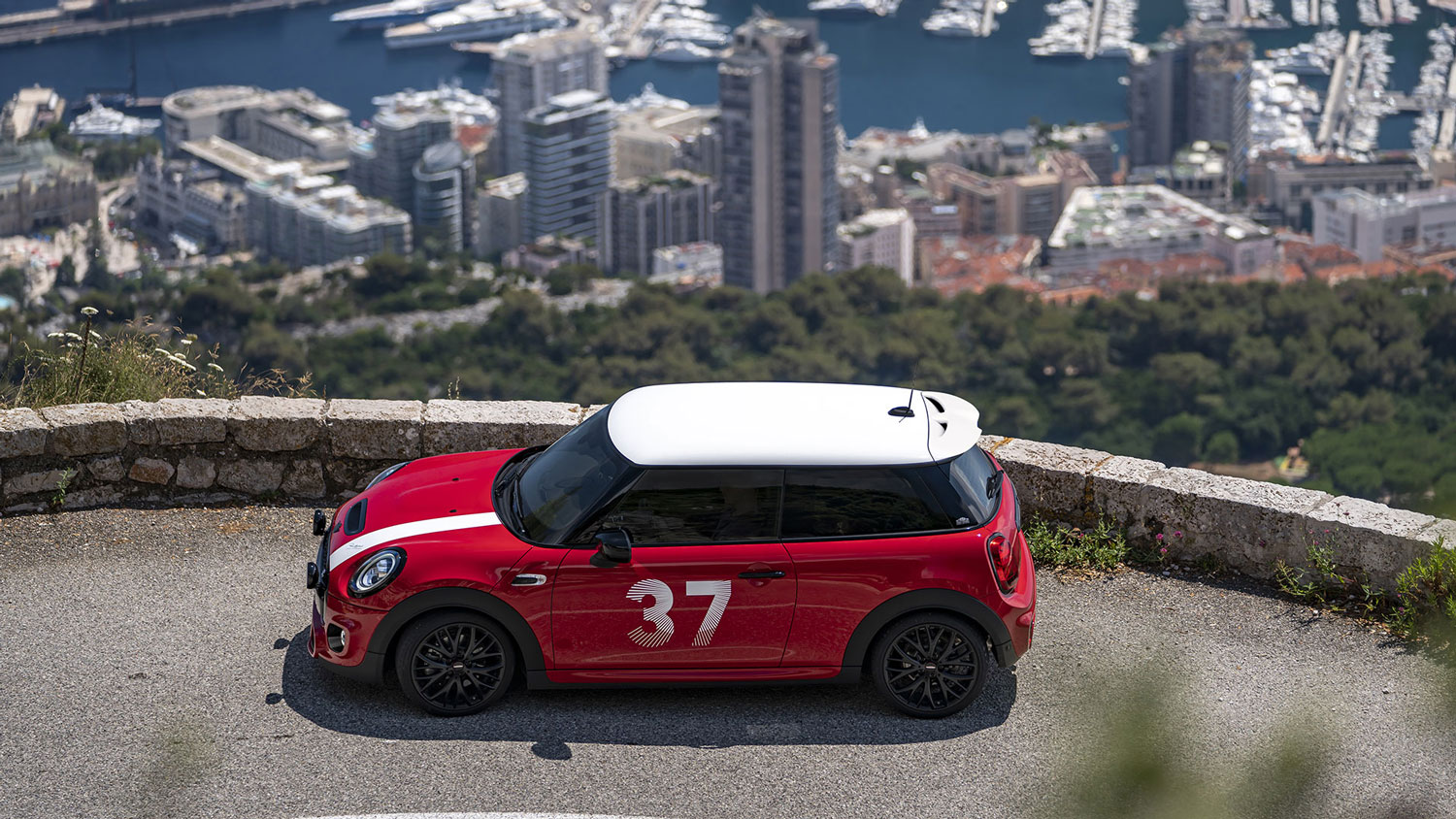 Mini Paddy Hopkirk Edition parked