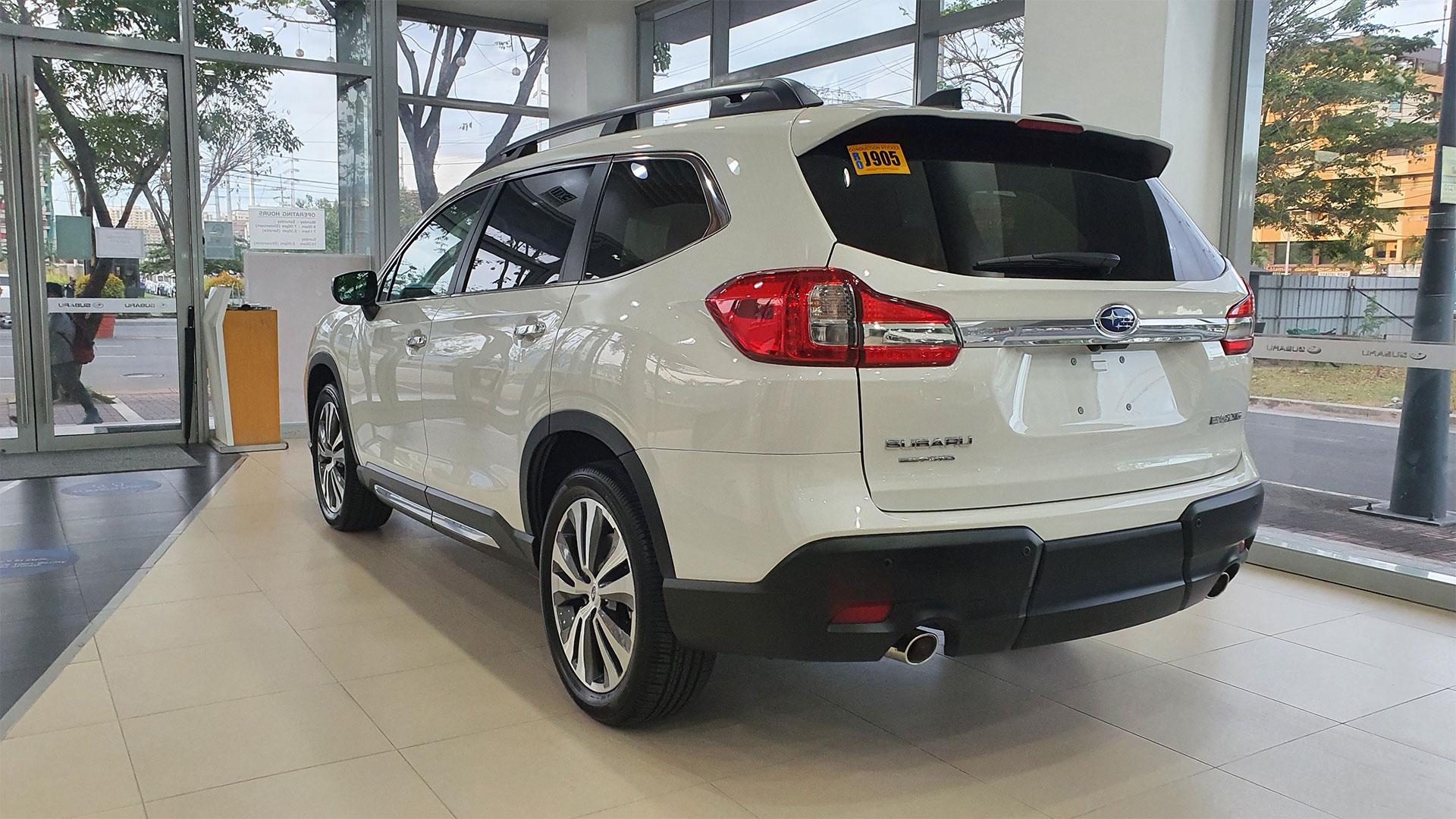 The Subaru Evoltis Angled Rear View