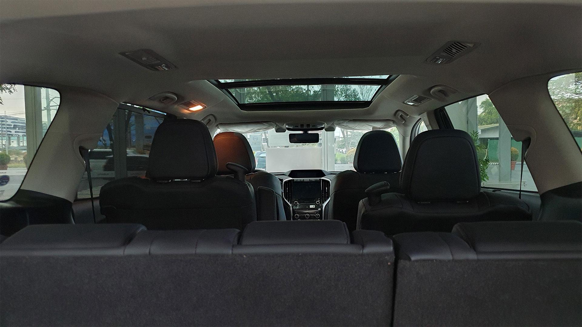 The Subaru Evoltis Interior POV from the open rear door