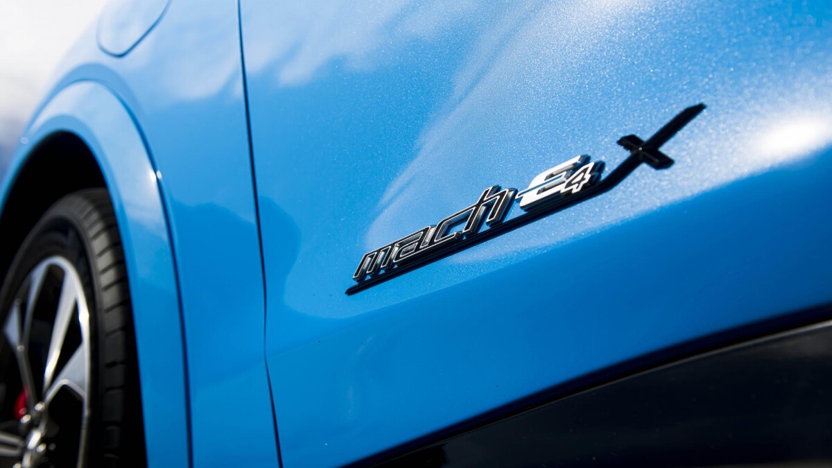 The Ford Mustang Mach-E Emblem