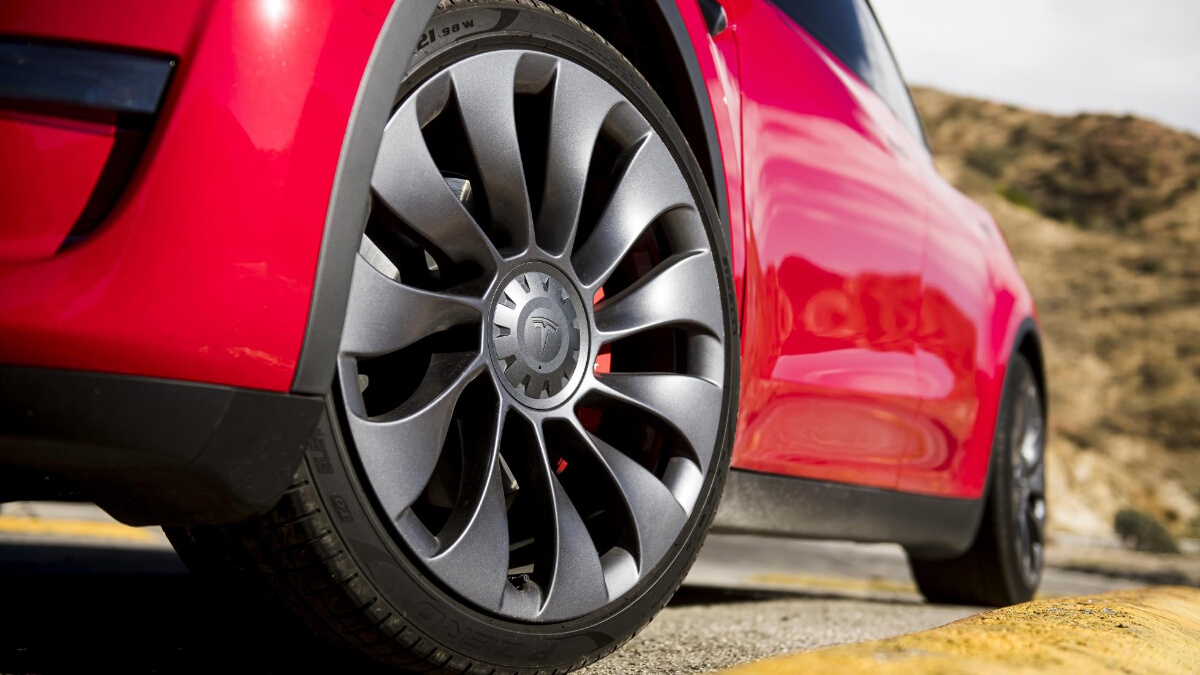 The Tesla Model Y Wheel and Tire Detail