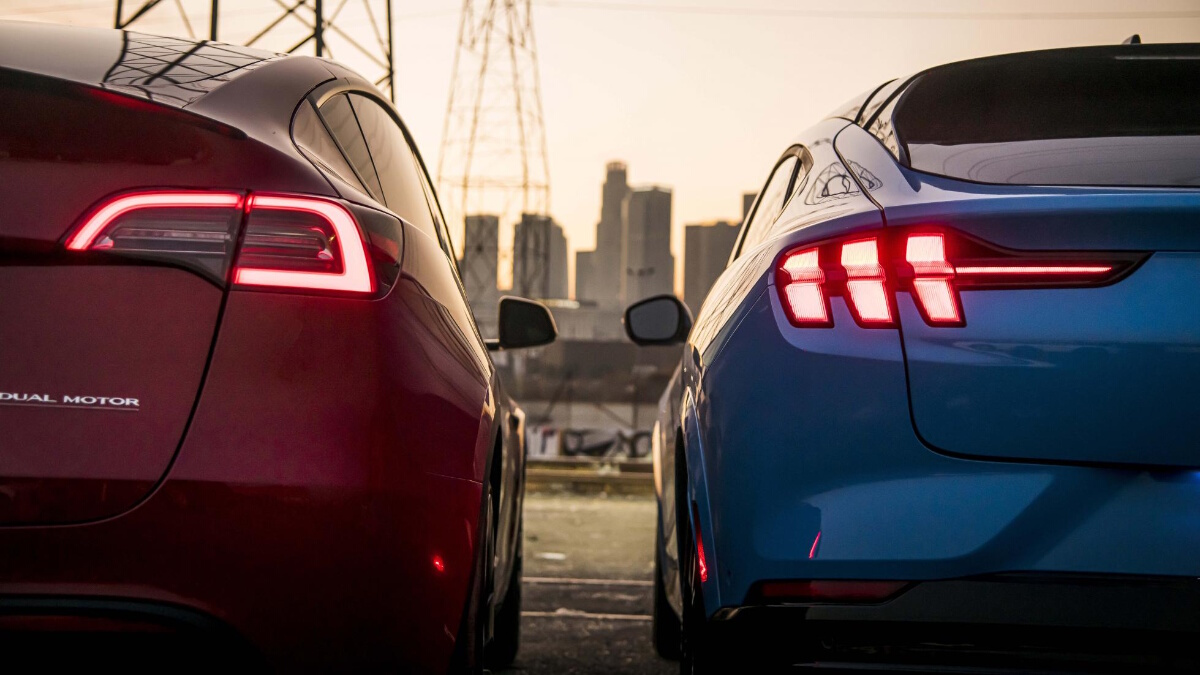 A comparison of the Tesla Model Y and Mustang Mach-E