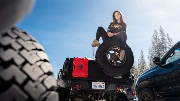 Woman in Black Leggings and T-Shirt  - From the Illest Overland Adventure