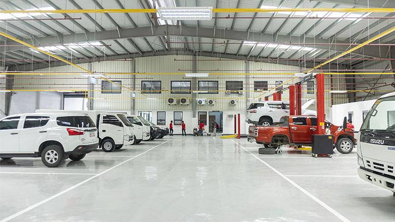The Garage of the New Isuzu Dealership in Tagum, Davao Del Norte