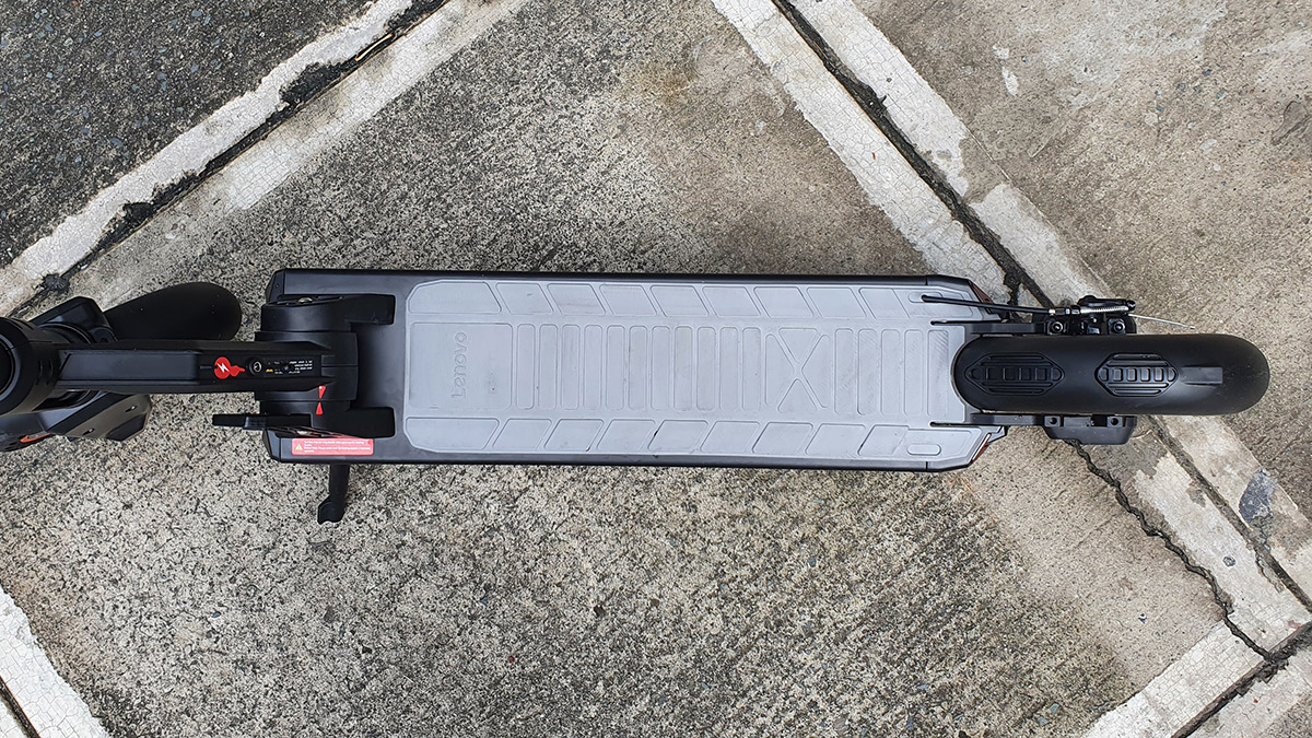 The Lenovo M2 Electric Kick Scooter running board