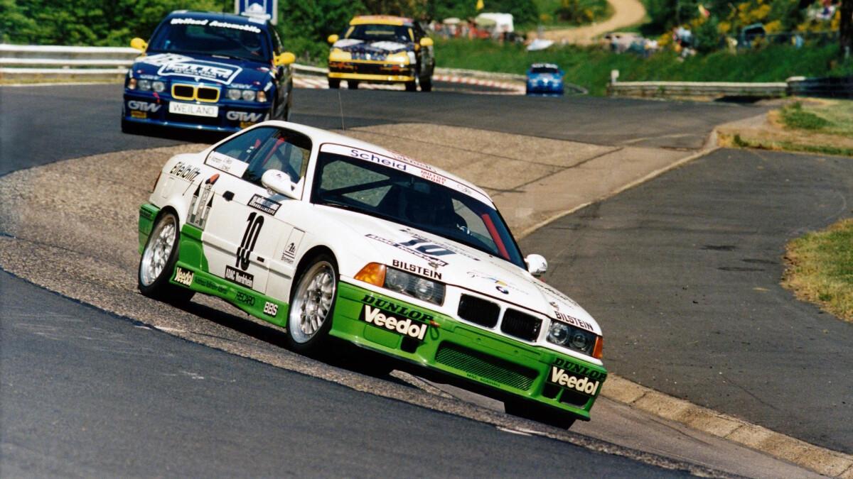Sabine Schmitz winning the Nurburgring in 1996