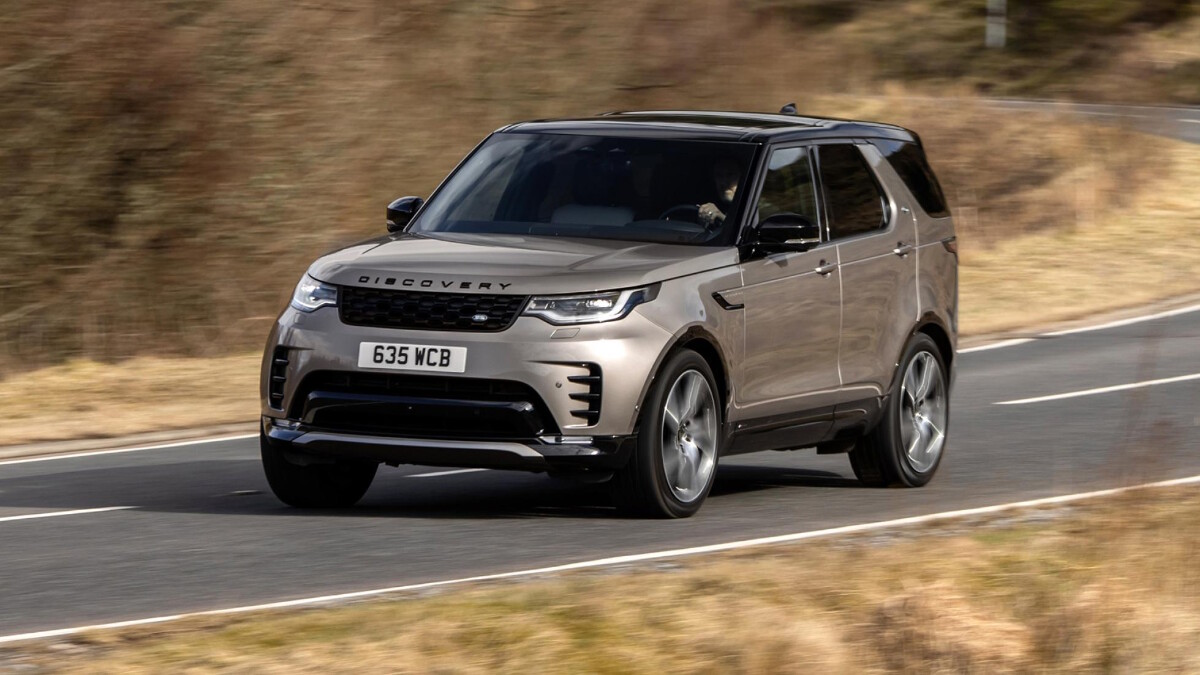 The Land Rover Discovery on the Road Front View
