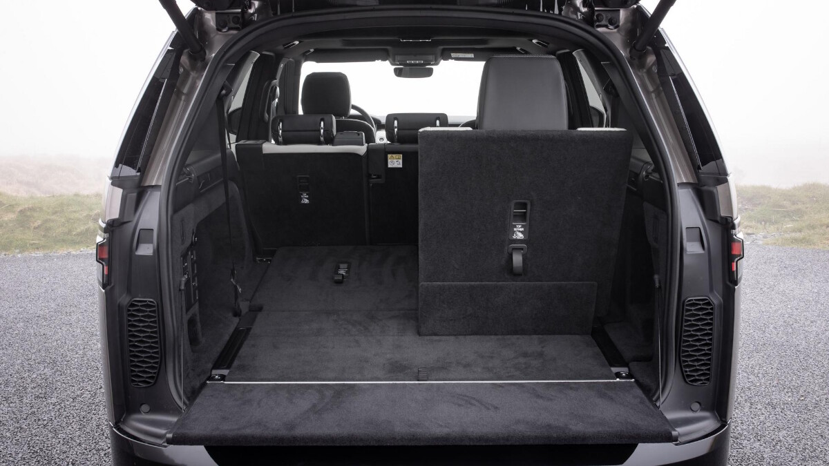 The Land Rover Discovery Rear Storage, Passenger Seat Folded