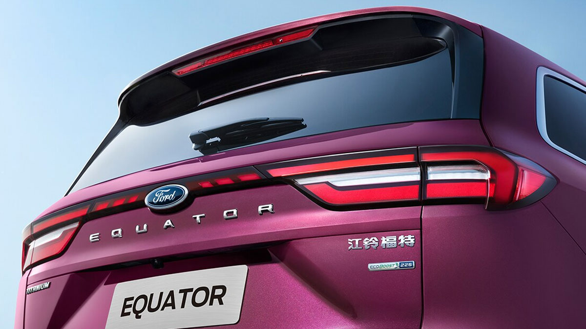 The Ford Equator Angled Rear View