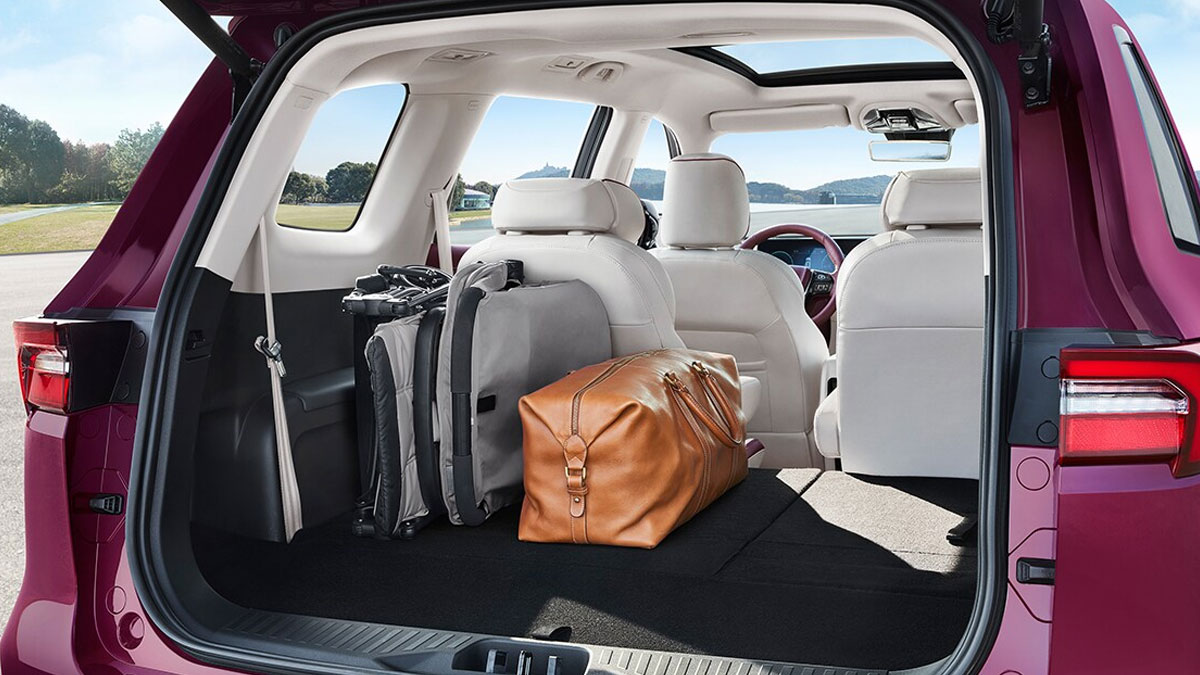 The Ford Equator Folded Rear Seats and Storage