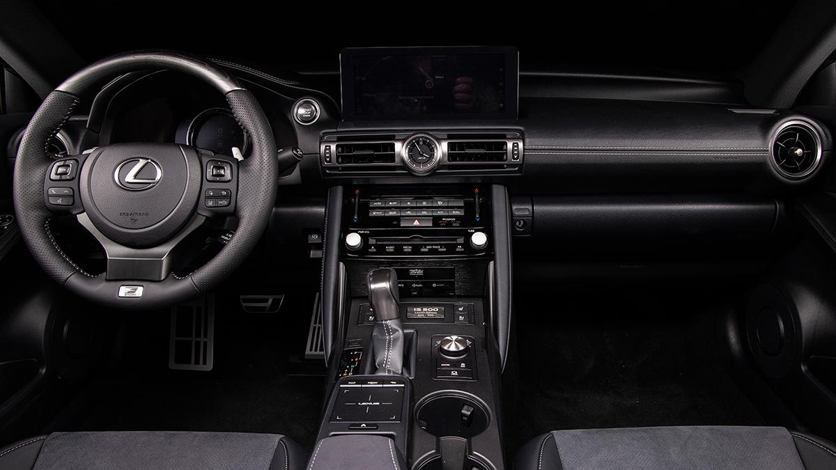 The Lexus IS500F Dashboard