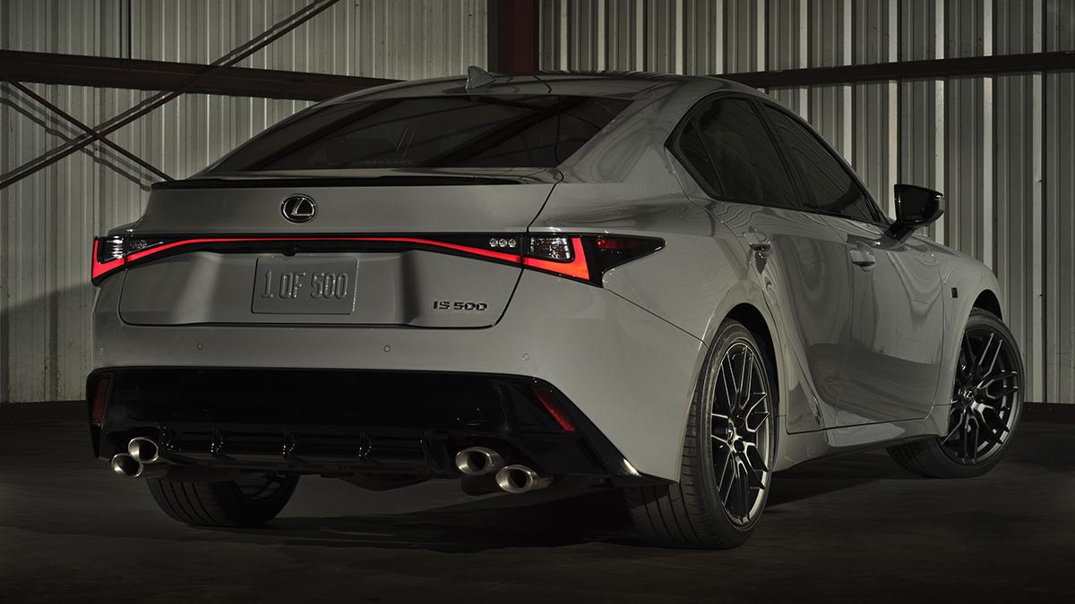 The Lexus IS500F Rear View