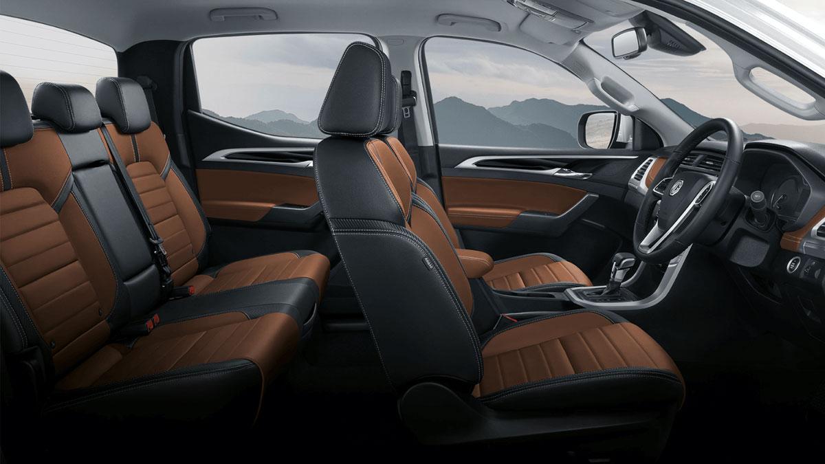The 2021 MG Extender Interior