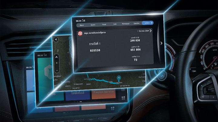 The 2021 MG Extender Control and Media Panel