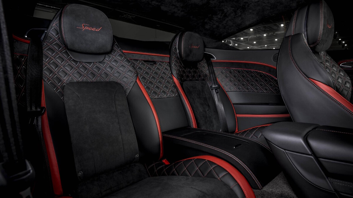 The Bentley Continental GT Speed Rear Passenger Seats