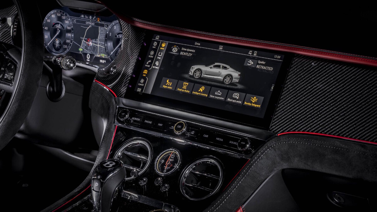 The Bentley Continental GT Speed  Media Panel