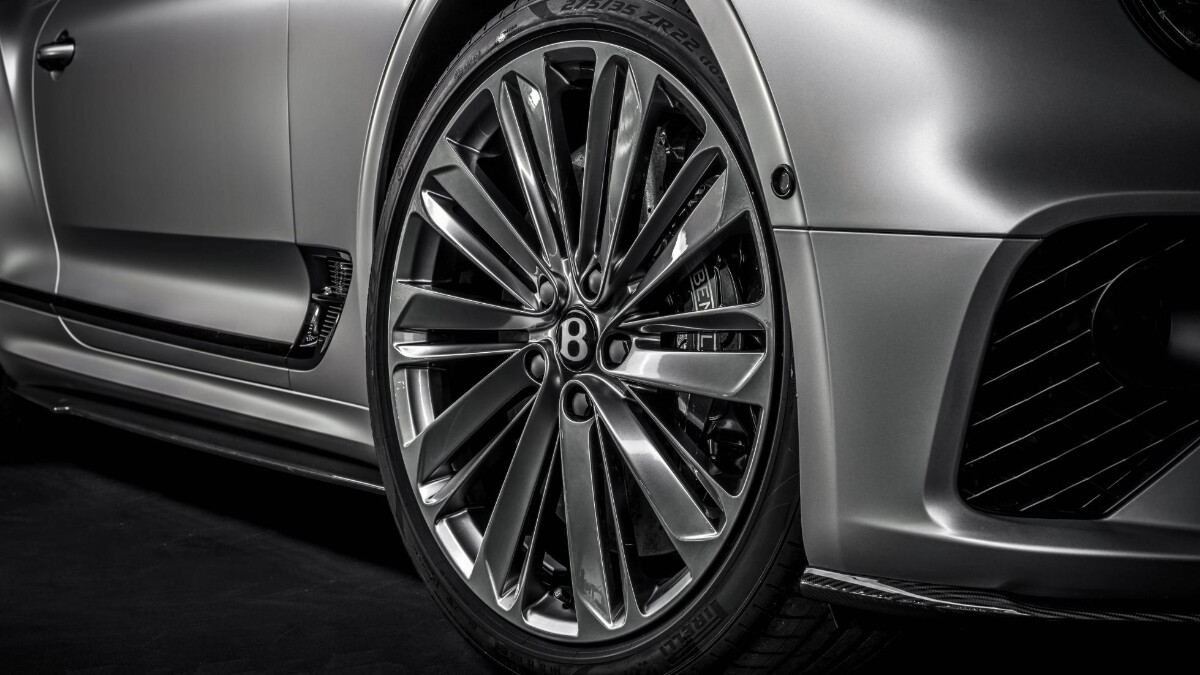 The Bentley Continental GT Speed  Front Wheel Detail