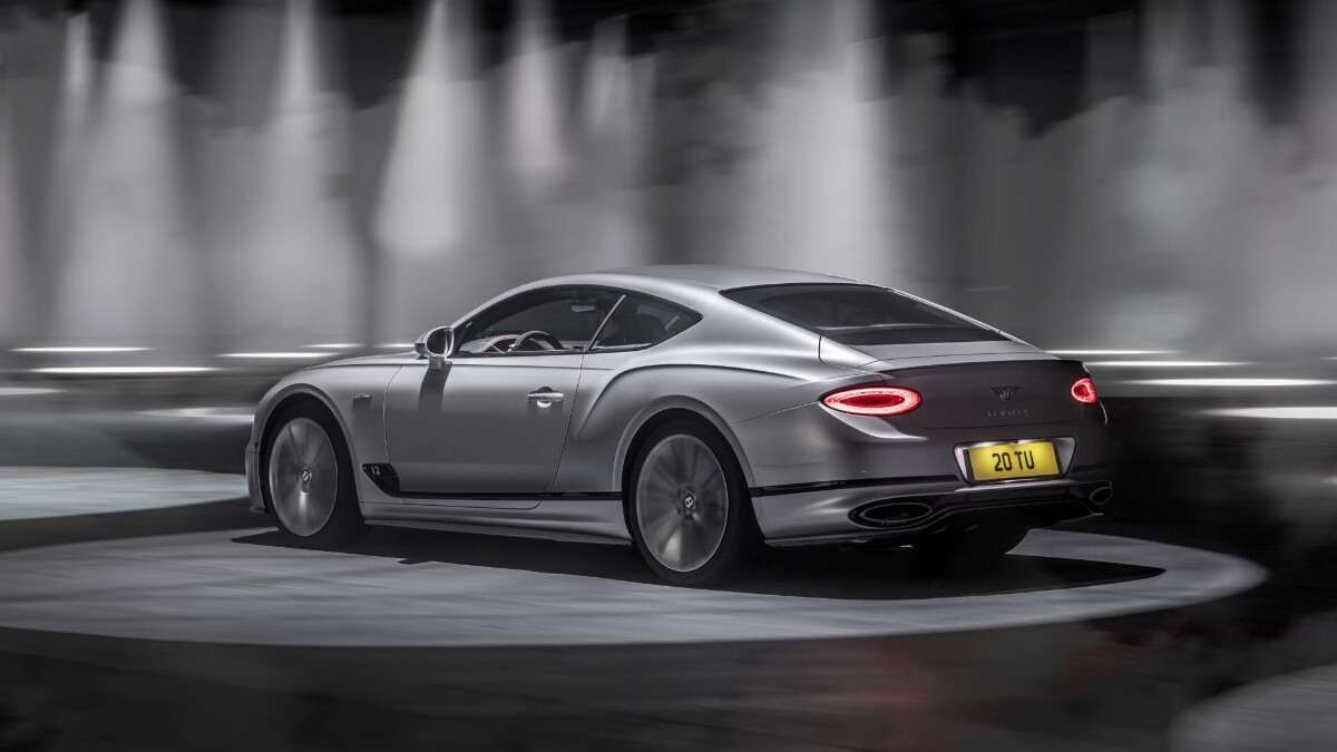 The Bentley Continental GT Speed Angled Rear View