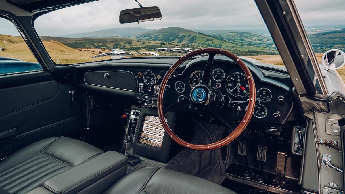 The Aston Martin DB5 Steering Wheel and Dashboard