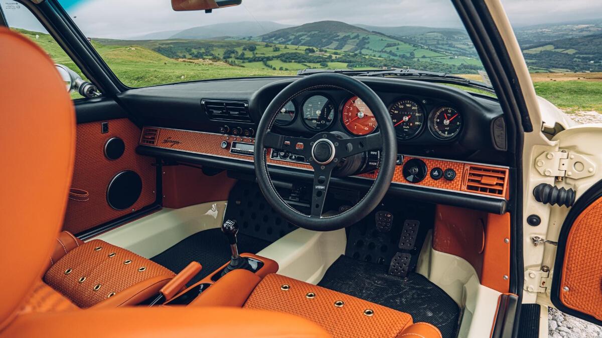 Car with orange interior