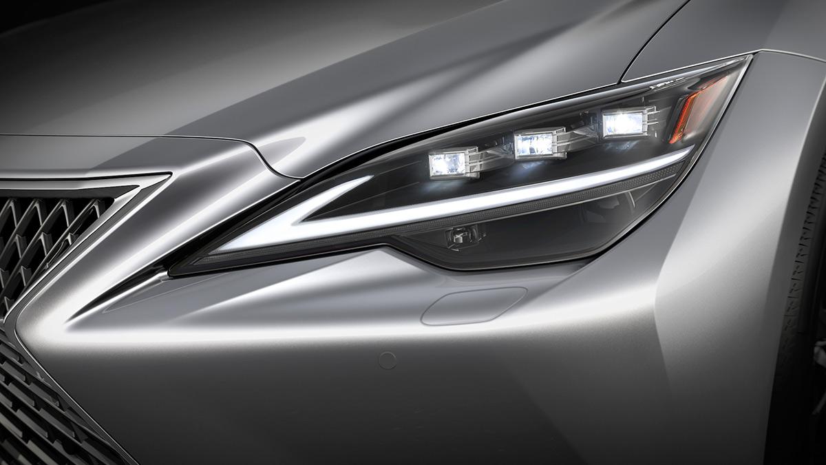 The Lexus LS Head Lamp