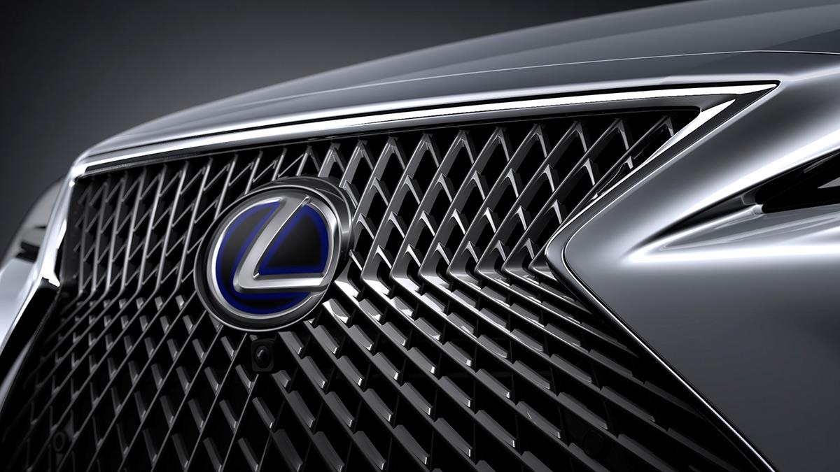 The Lexus LS Front Grille