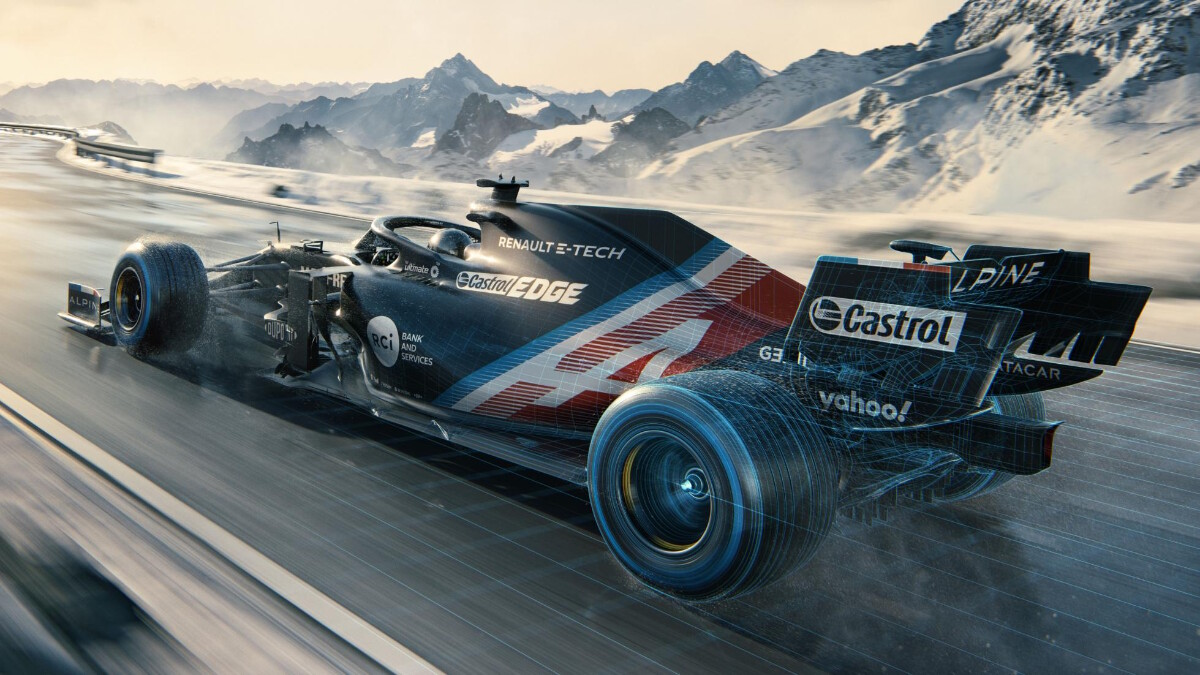 The Alpine A521 on the track