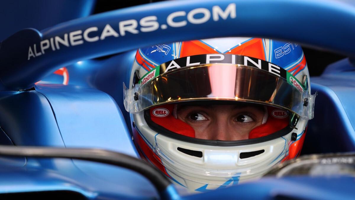 Fernando Alonso for the Alpine Formula 1 Team
