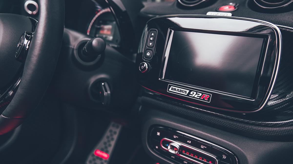 The Brabus 92R Dashboard Closeup