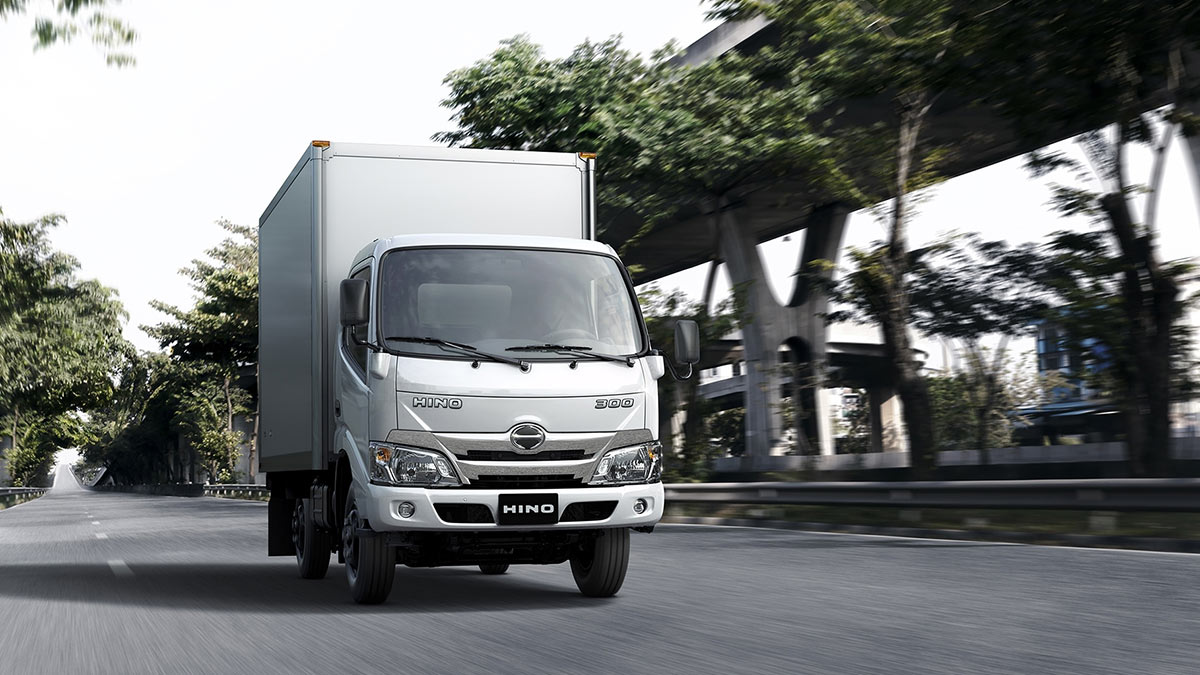 The New Hino Truck On the Road