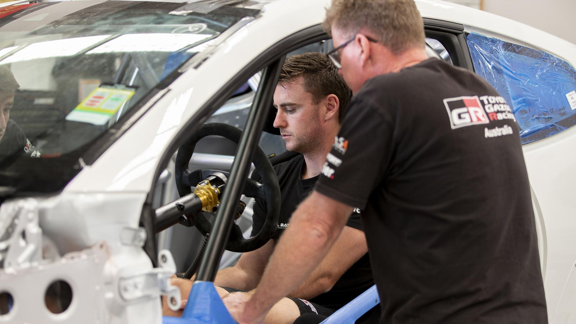 The Toyota GR Yaris AP4 Rally Car Being Calibrated