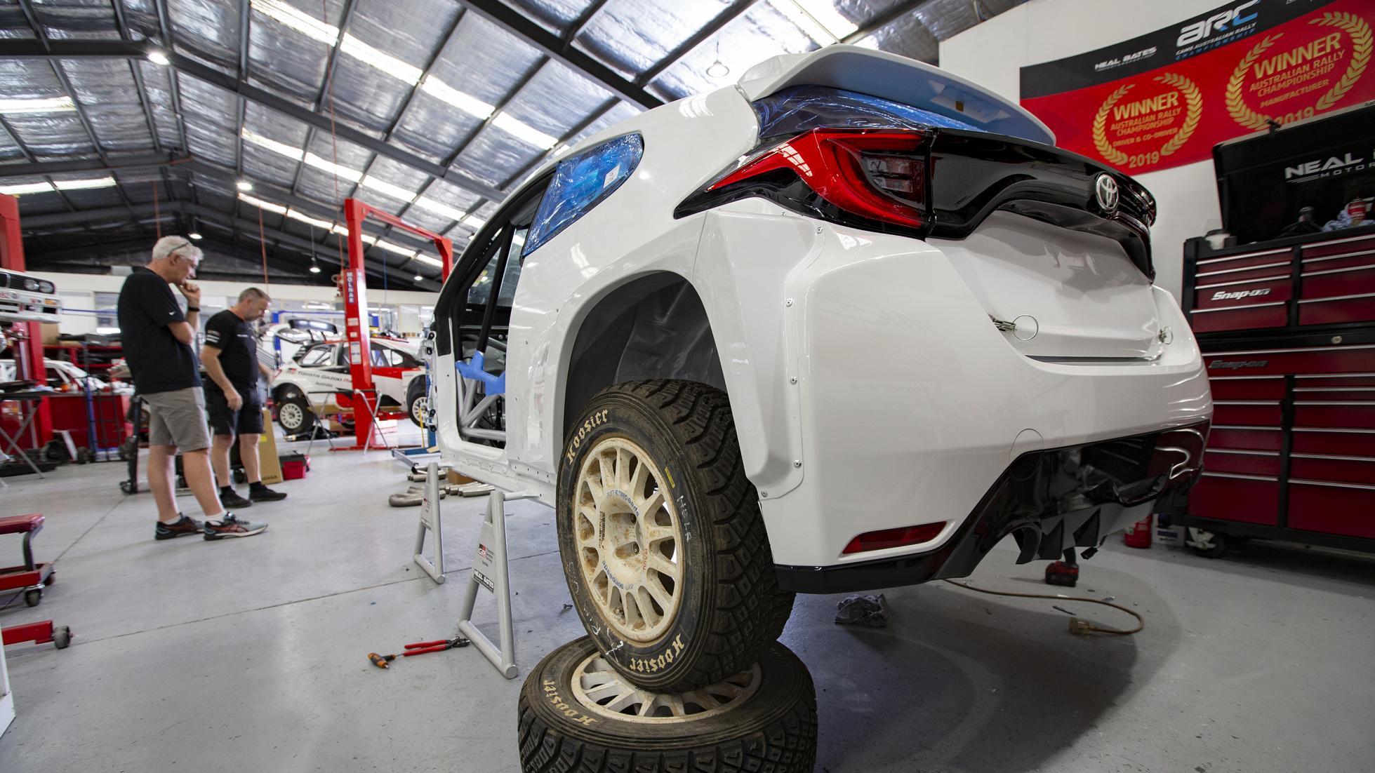 The Toyota GR Yaris AP4 Rally Car Body