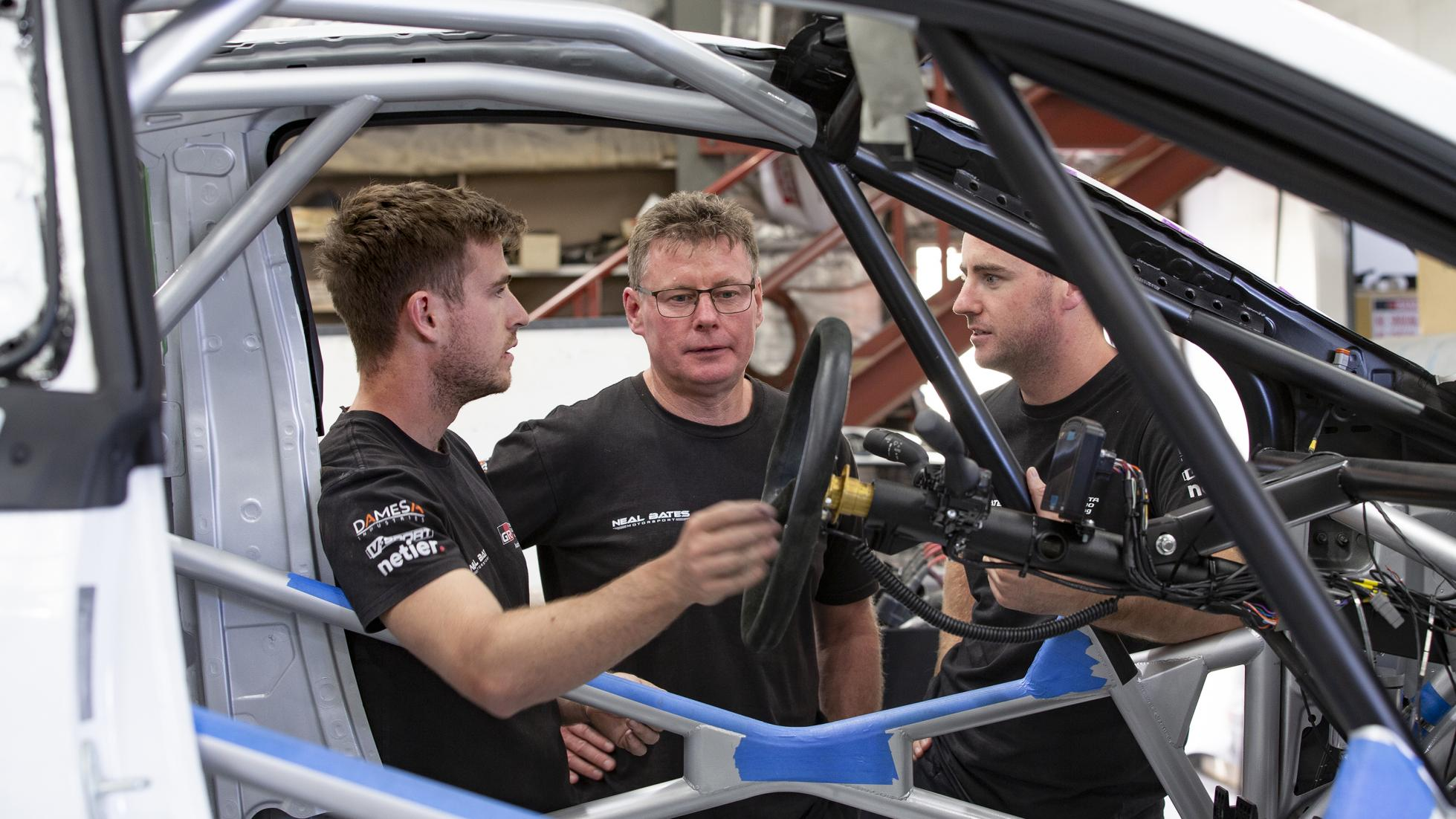 The Toyota GR Yaris AP4 Rally Car Roll Cage