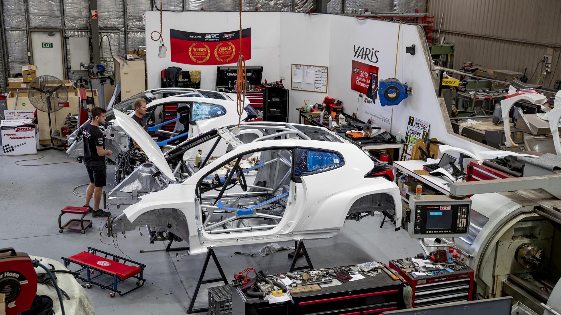 The Toyota GR Yaris AP4 Rally Car in Development
