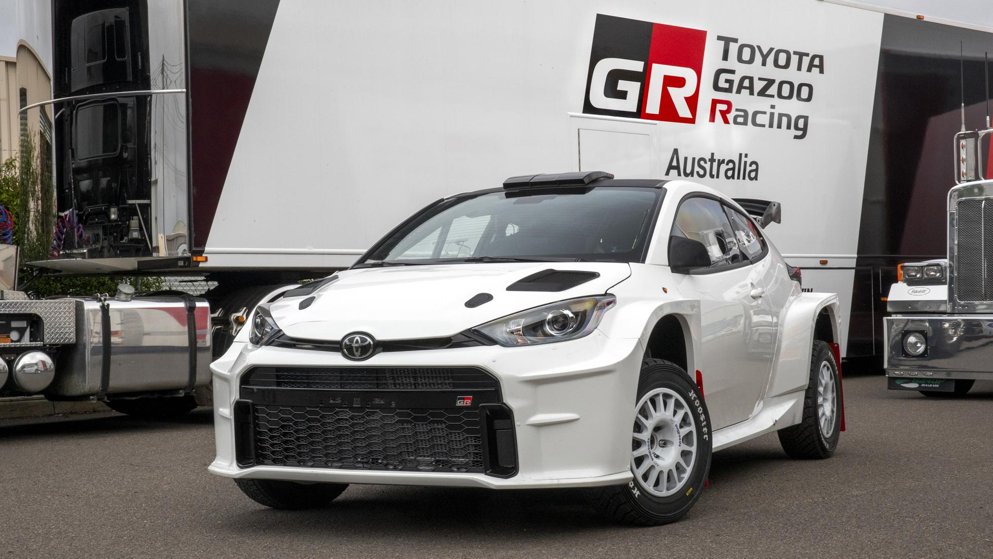 The Toyota GR Yaris AP4 Rally Car Front View