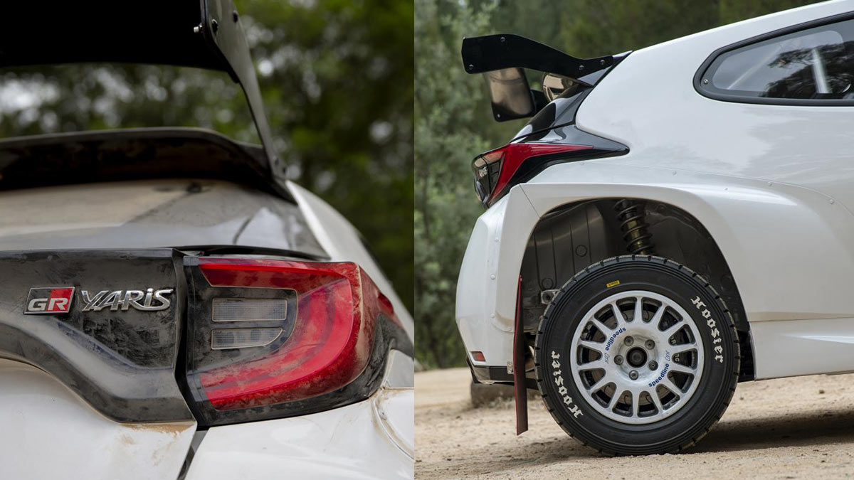 The Toyota GR Yaris AP4 Rally Car after drive