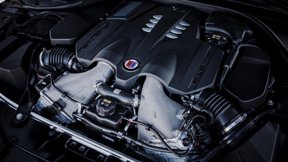 The Alpina B8 Gran Coupe Engine