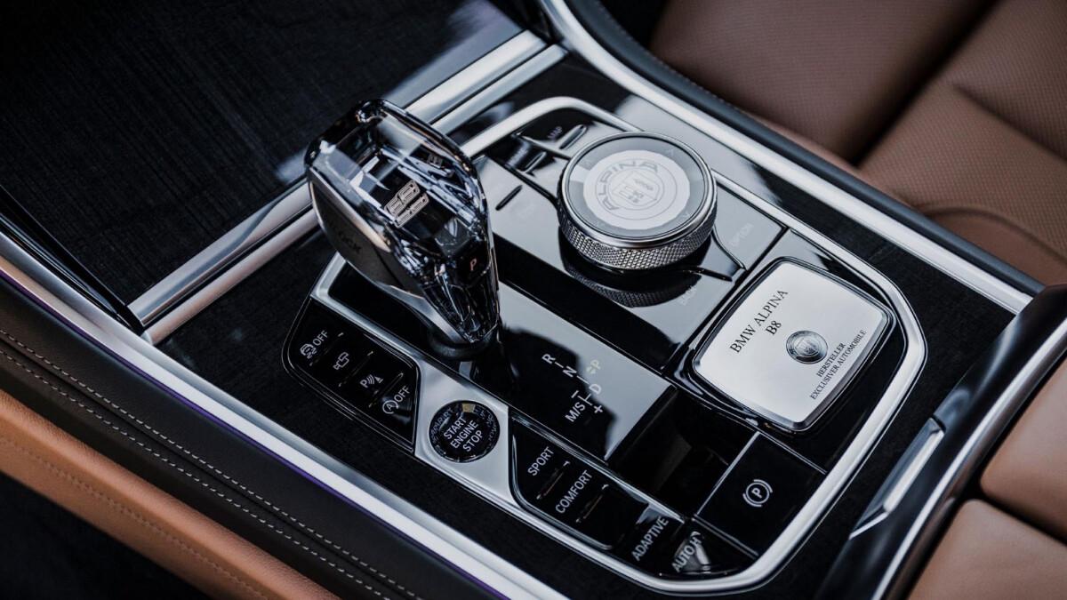 The Alpina B8 Gran Coupe Center Console and Gear Stick