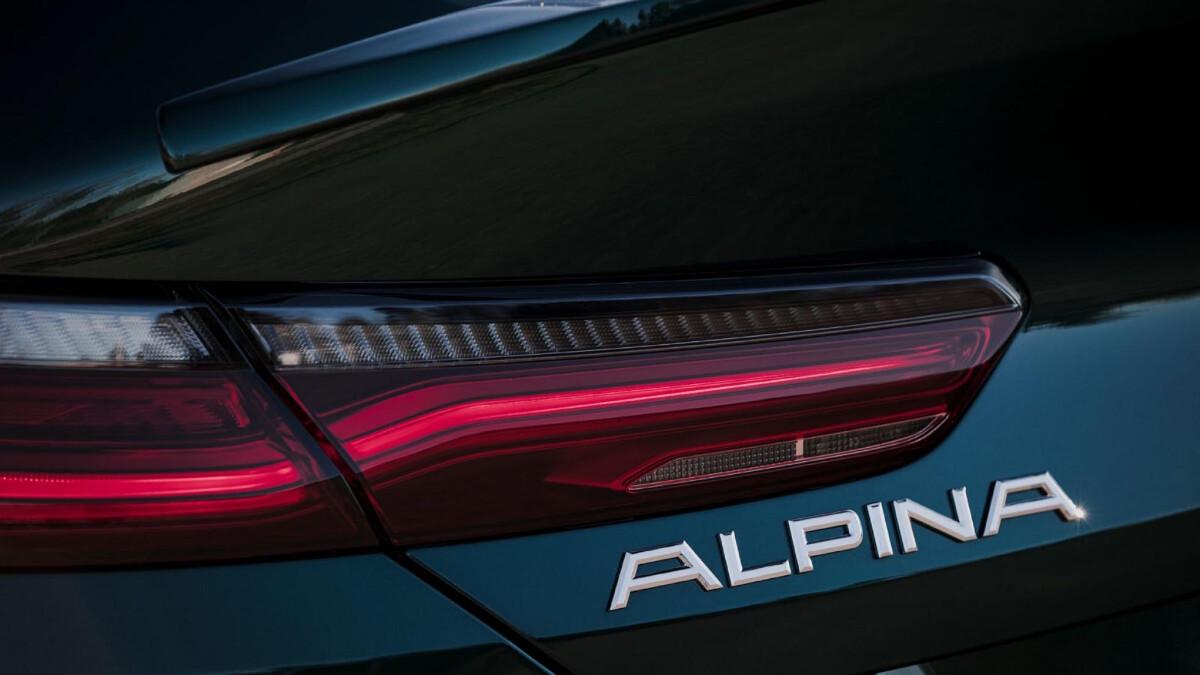 The Alpina B8 Gran Coupe Rear Emblem