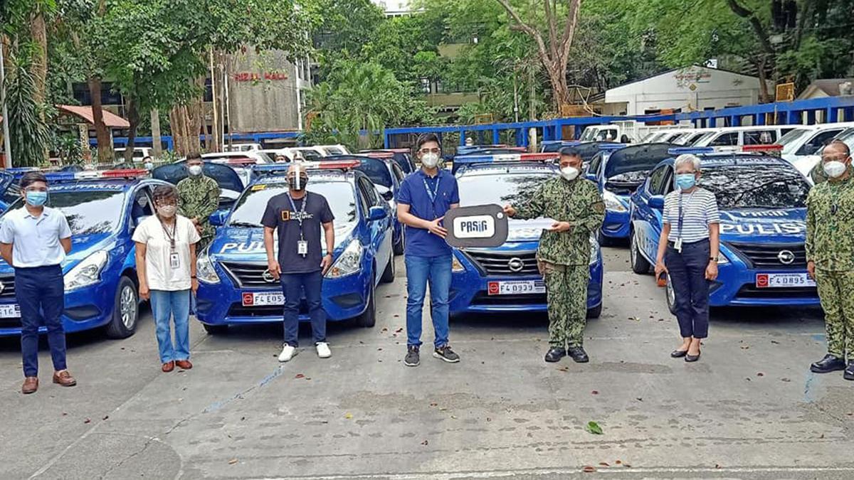 Pasig City police gets new fleet of Nissan Almeras