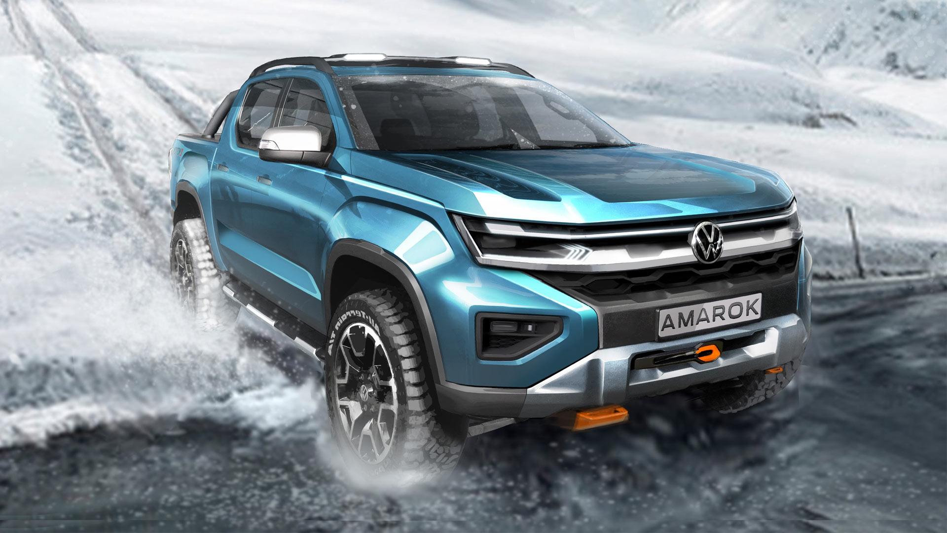 VW reveals new design sketches of the next-gen Amarok