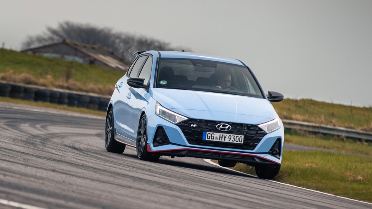 The Hyundai i20N Front View