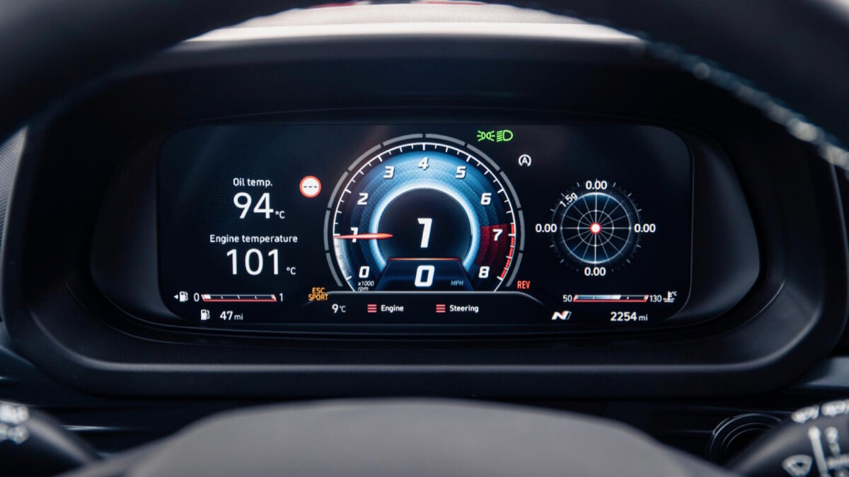 The Hyundai i20N Odometer